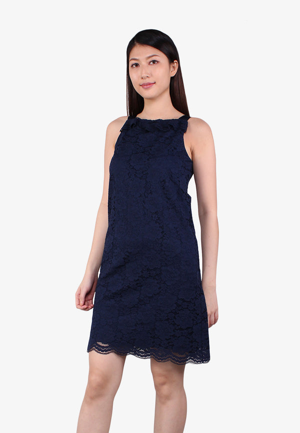 Lace Ruffles Sleeveless Dress