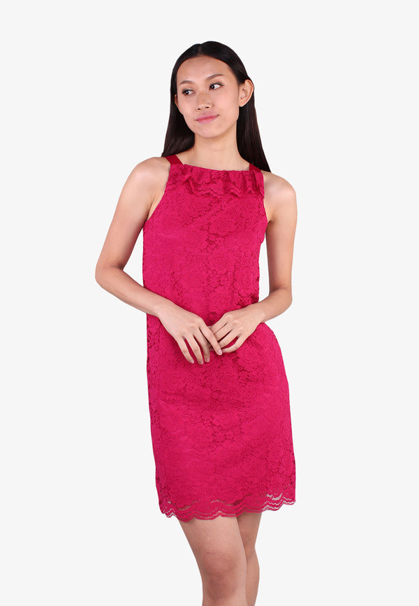 ELLE Lace Ruffles Sleeveless Dress