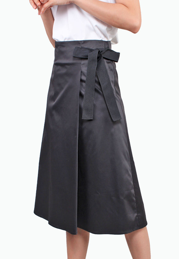 Waist Ribbon Wrap Skirt