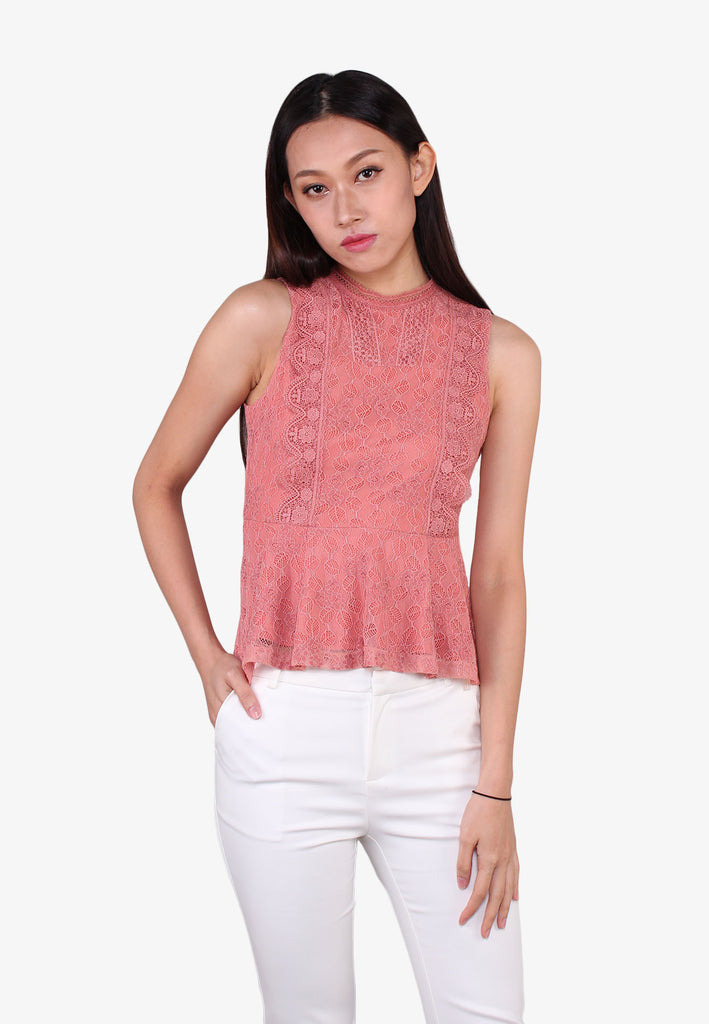 Elegant Peplum Lace Top