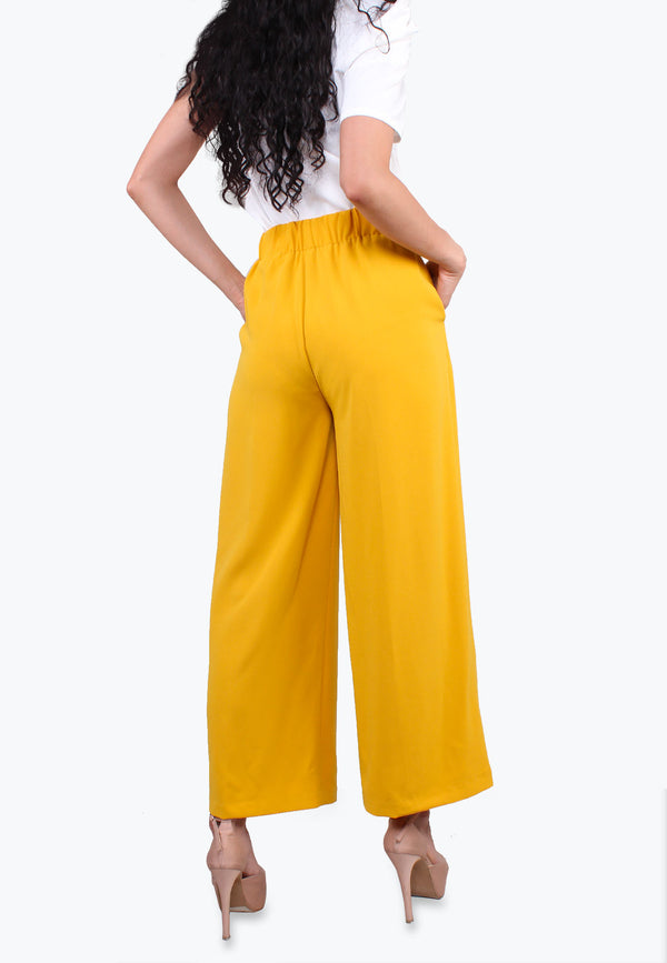 High Rise Wide Leg Palazzo Pants