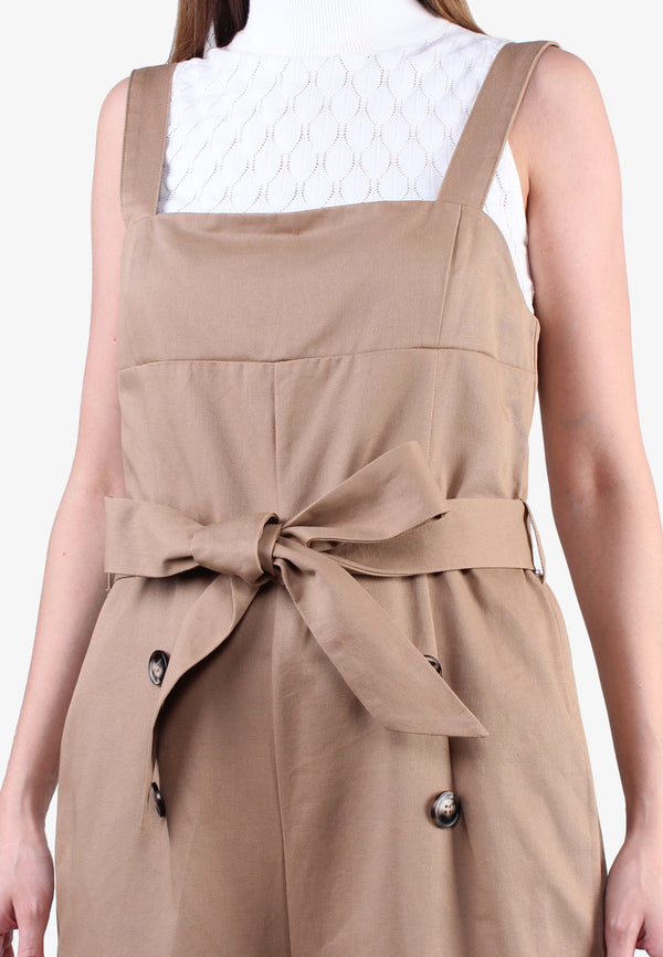 Square Neck Belted Dungaree
