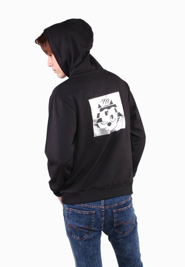 Felix The Cat Silver Print Hoodie Sweatshirts