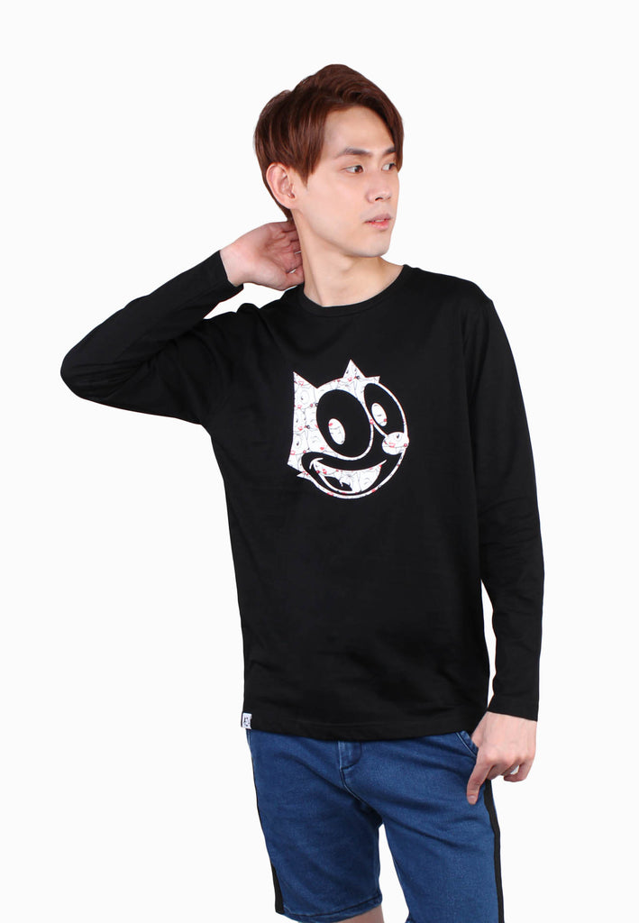 Iconic Men Felix the Cat Long Sleeve Top