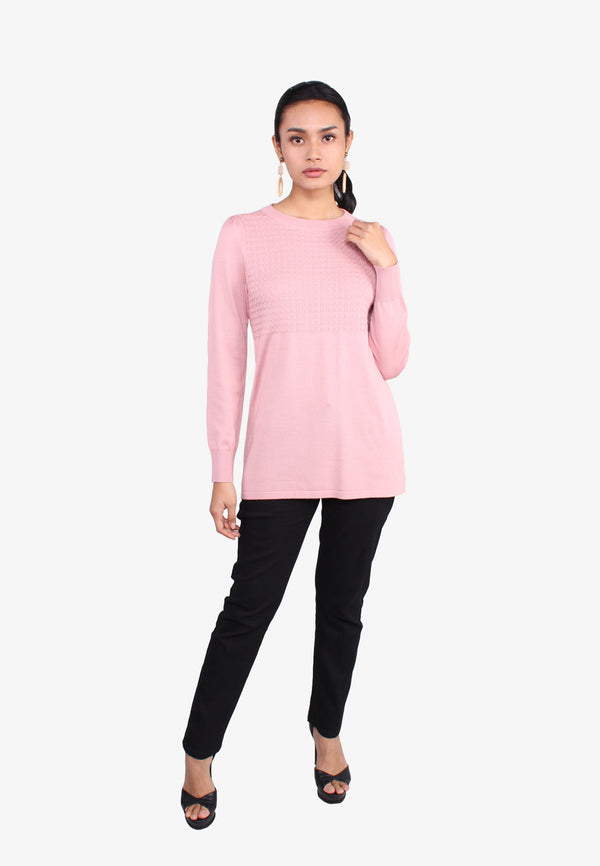 Yam Long Sleeve Knit Top