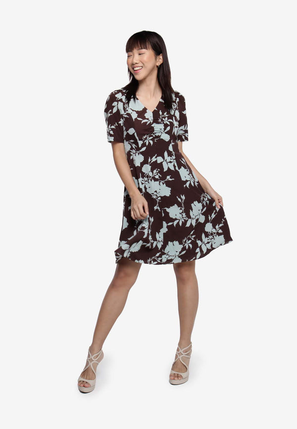 Flower Print Day Dress