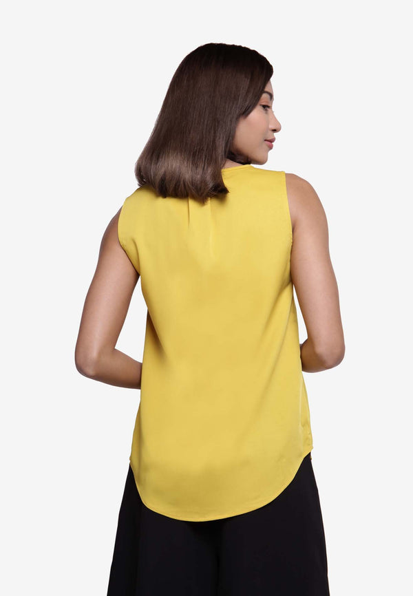 Sleeveless Blouse - Mustard
