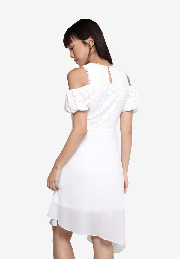 Off Shoulder Dress in White