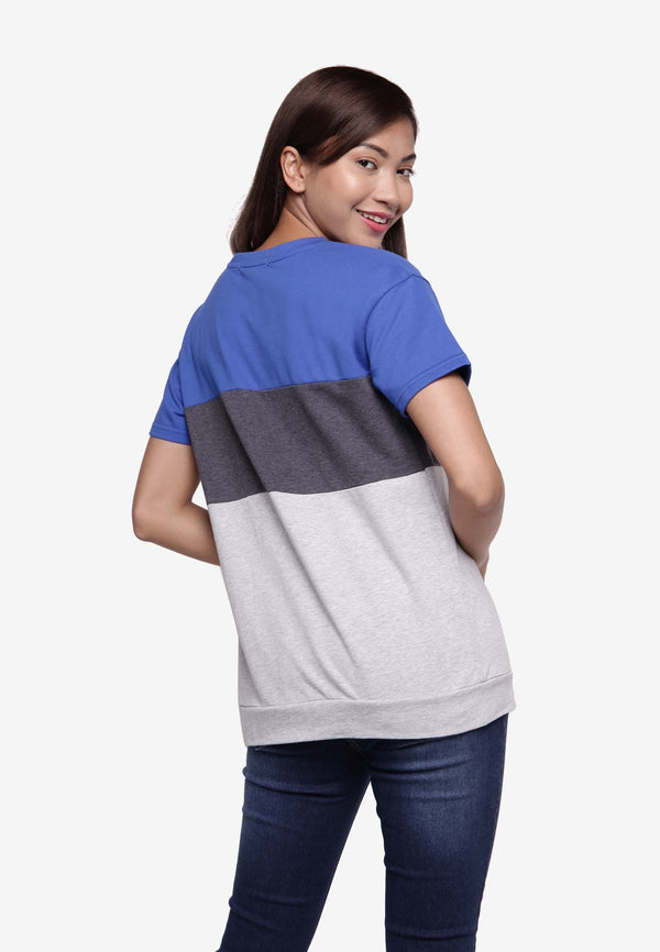 Basic Multi-Colored T-Shirt - Grey