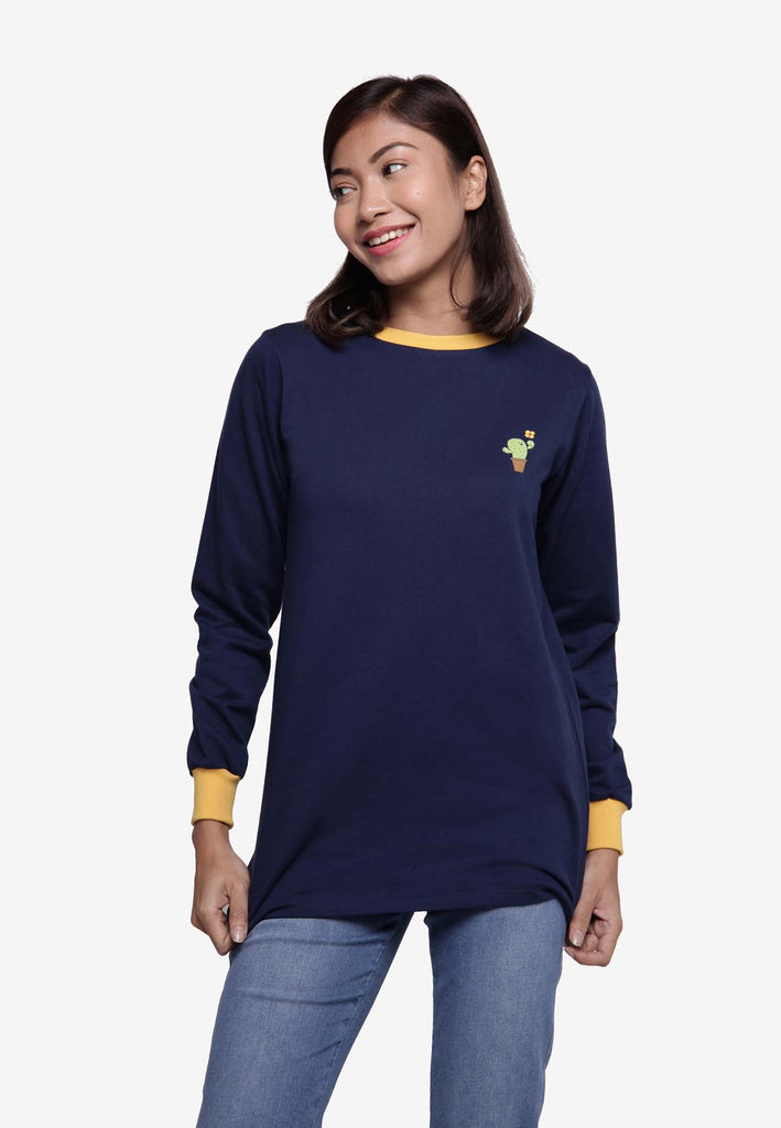 Long Sleeve Sweat Shirts - Navy