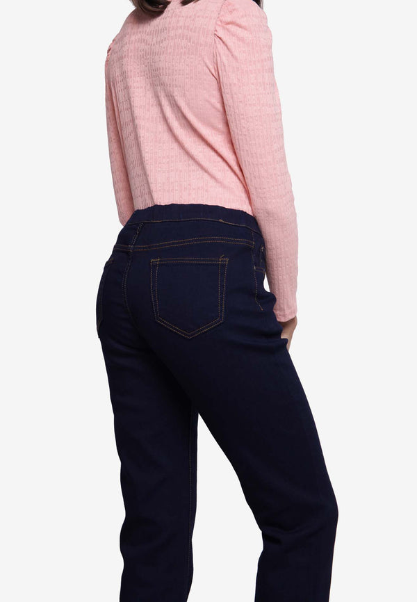 High Rise Cut Jegging - Navy