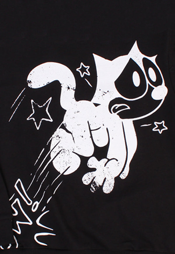 Felix the Cat Pow Long Sleeve Top