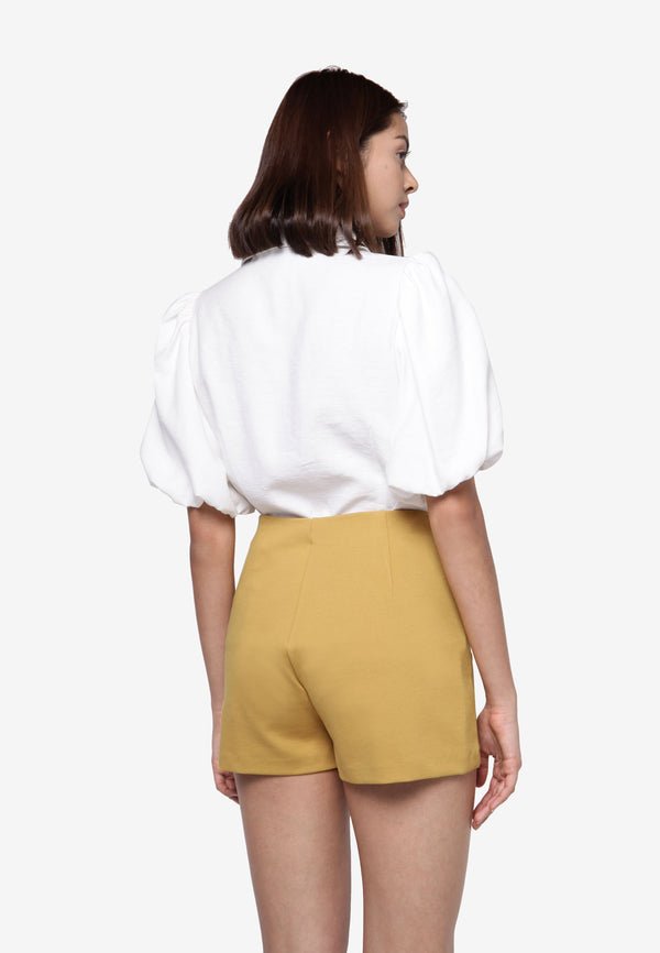 High Waisted Shorts in Yellow