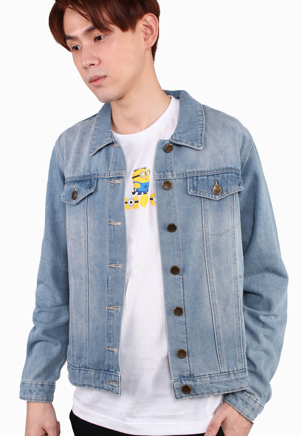 Men Minion Denim Jackets
