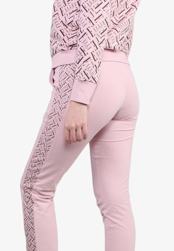 Stretchable Side Printed Straight Pants