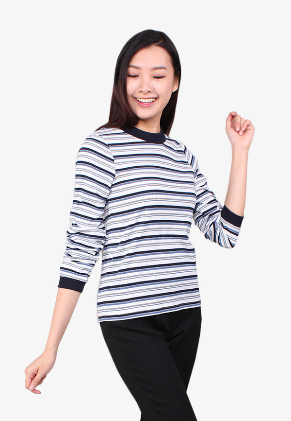 SODA Women Long Sleeve Knit Wear Top
