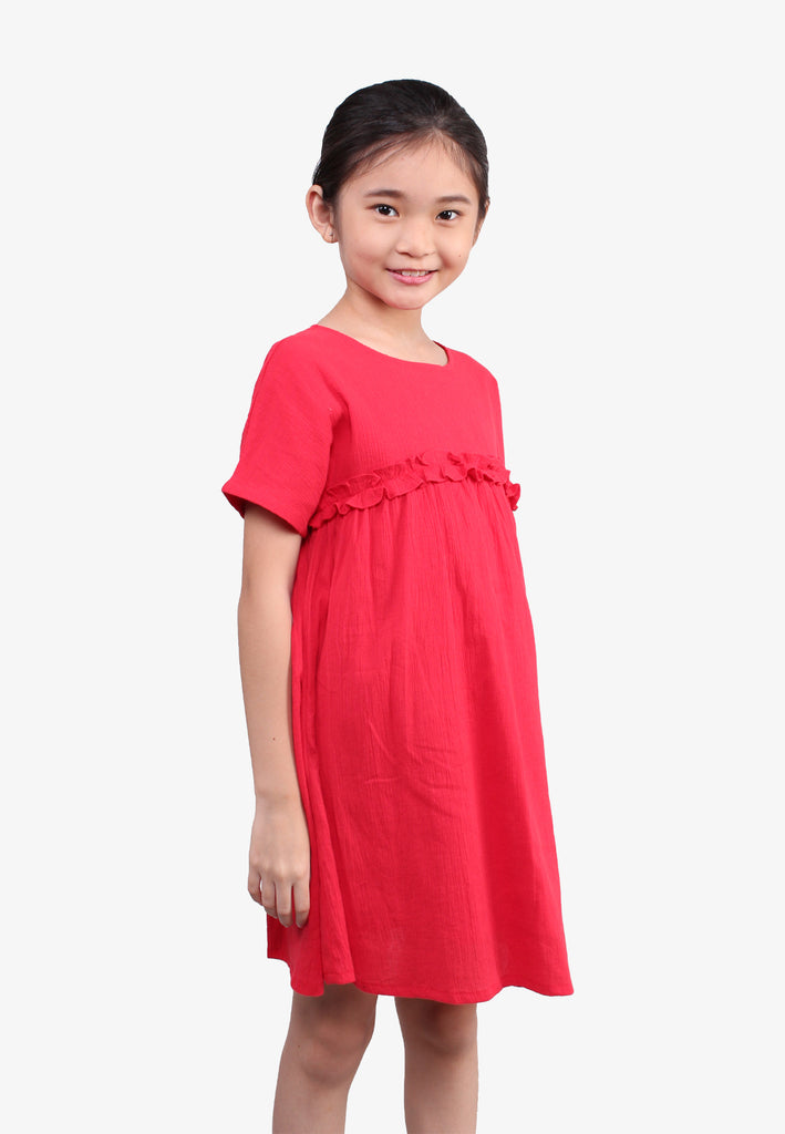Ruffles Pleated Dress