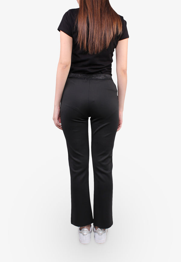 Shimmer Elastic Waist Relax Fit Pants