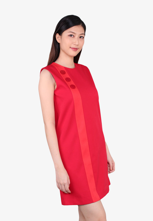 Round Neckline Shift Dress