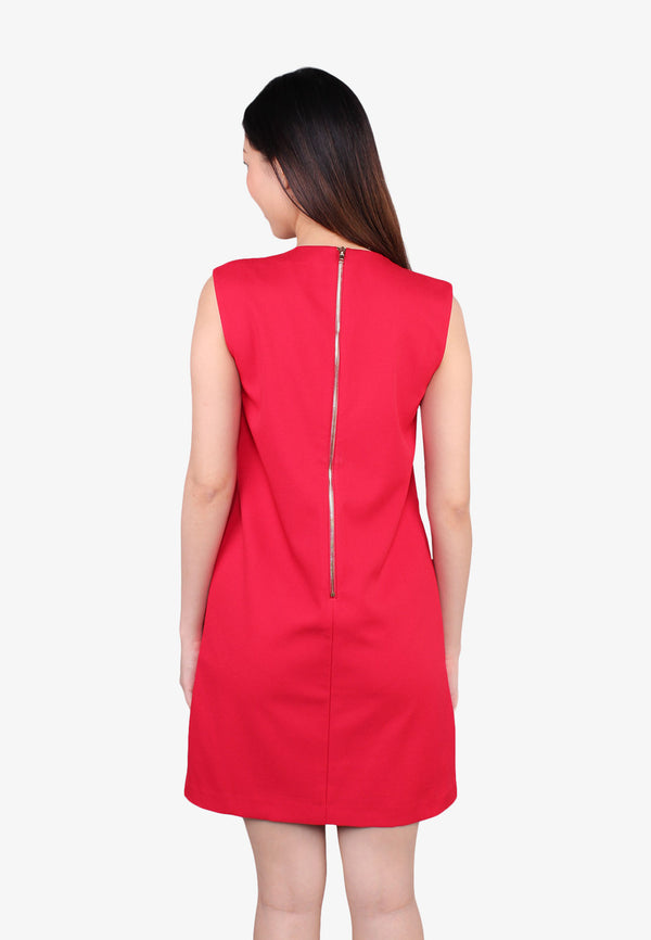 ELLE Round Neckline Shift Dress