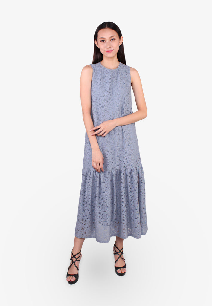 ELLE Lace Maxi Sleeveless Dress