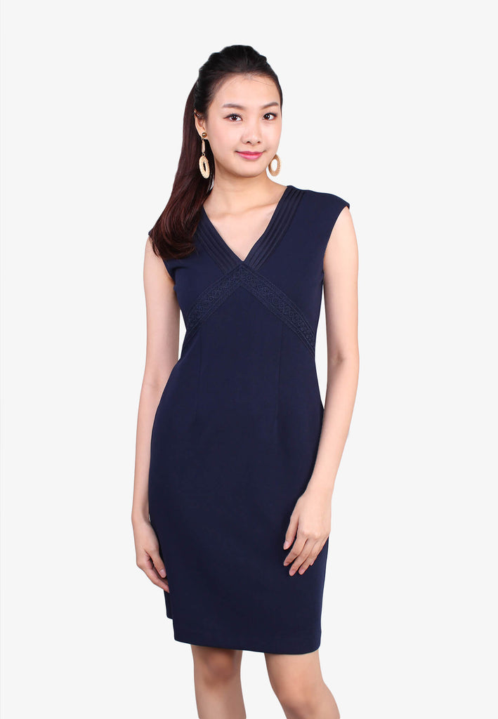 V Neckline Day Dress
