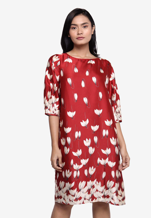 SOUTH CHINA SEA Boat Neckline Floral Dress