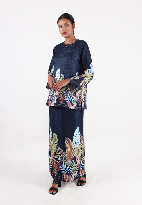 SOUTH CHINA SEA Floral & Leaves Print Maxi Skirt