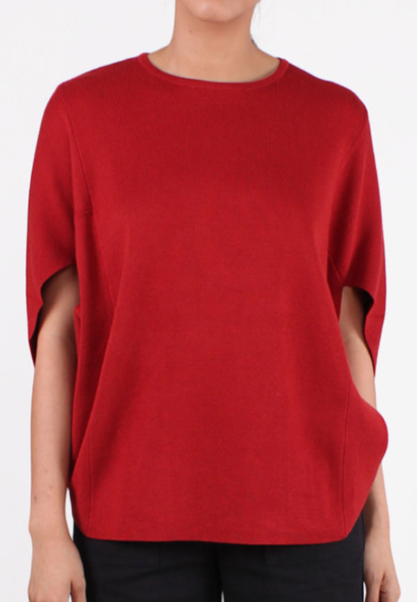 SOUTH CHINA SEA Round Neck Cape Sleeves Blouse