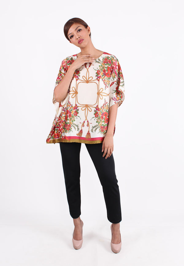 SOUTH CHINA SEA Floral Sateen Blouse