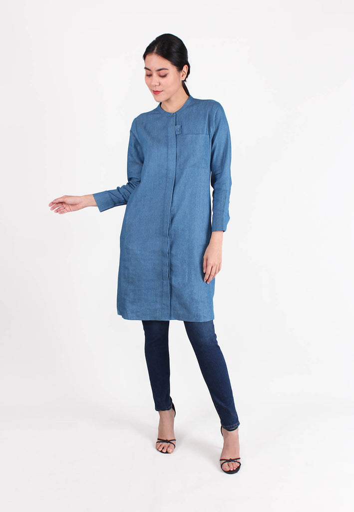 SOUTH CHINA SEA Long Sleeves Denim Dress
