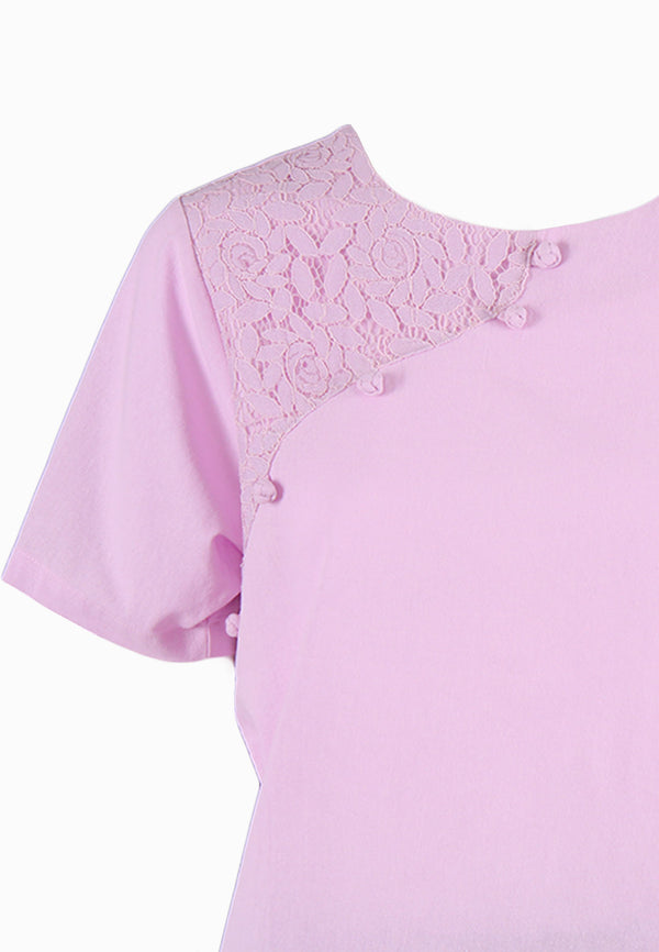 SOUTH CHINA SEA Asymmetrical Floral Embroidery Blouse