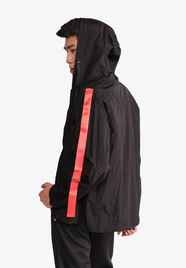 Lightweight Drawstring Tapping Sleeve Outerwear