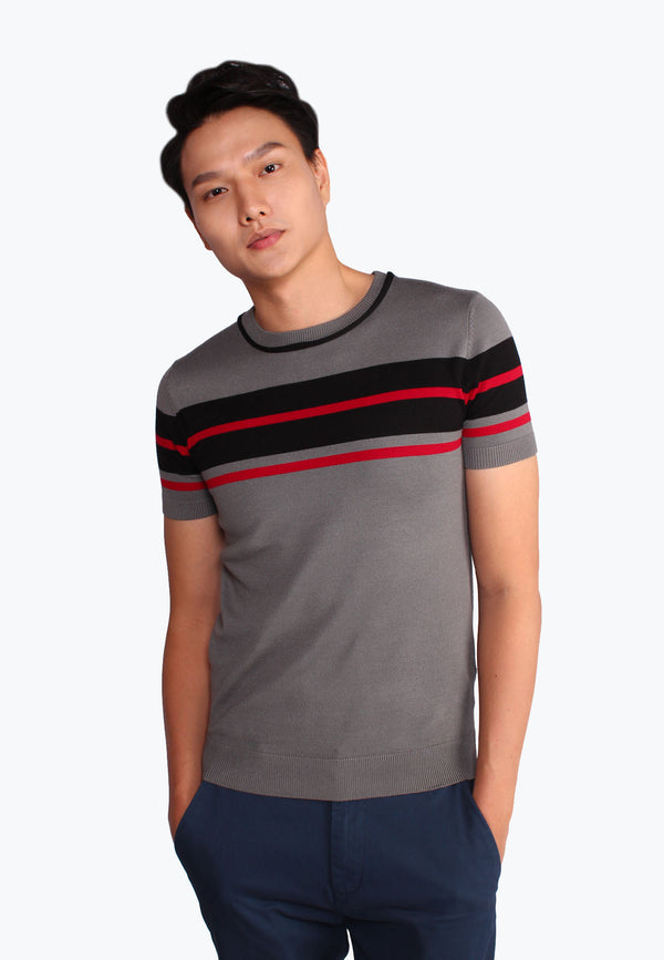 SODA Men Knitted Casual Striped Design Shirt