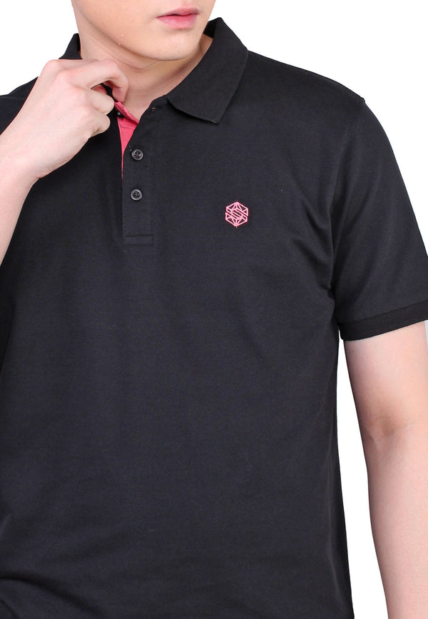 SODA Men Plain Casual Polo Shirt