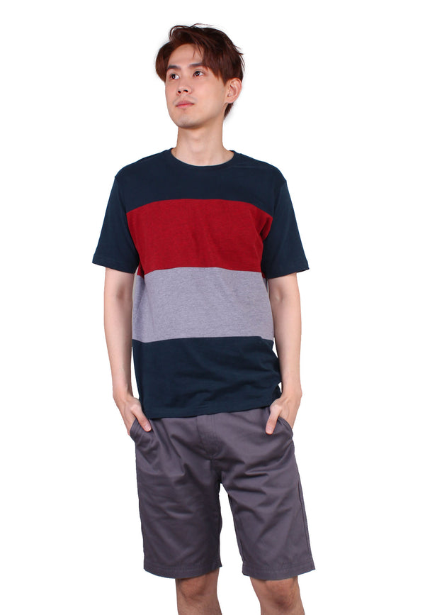 SODA Men Two Tone Striped T-Shirt