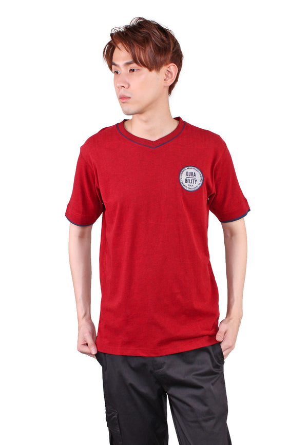 SODA Men V-Neck Logo T-Shirt