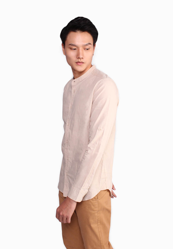 Stand Collar With Basic Placket Shirt