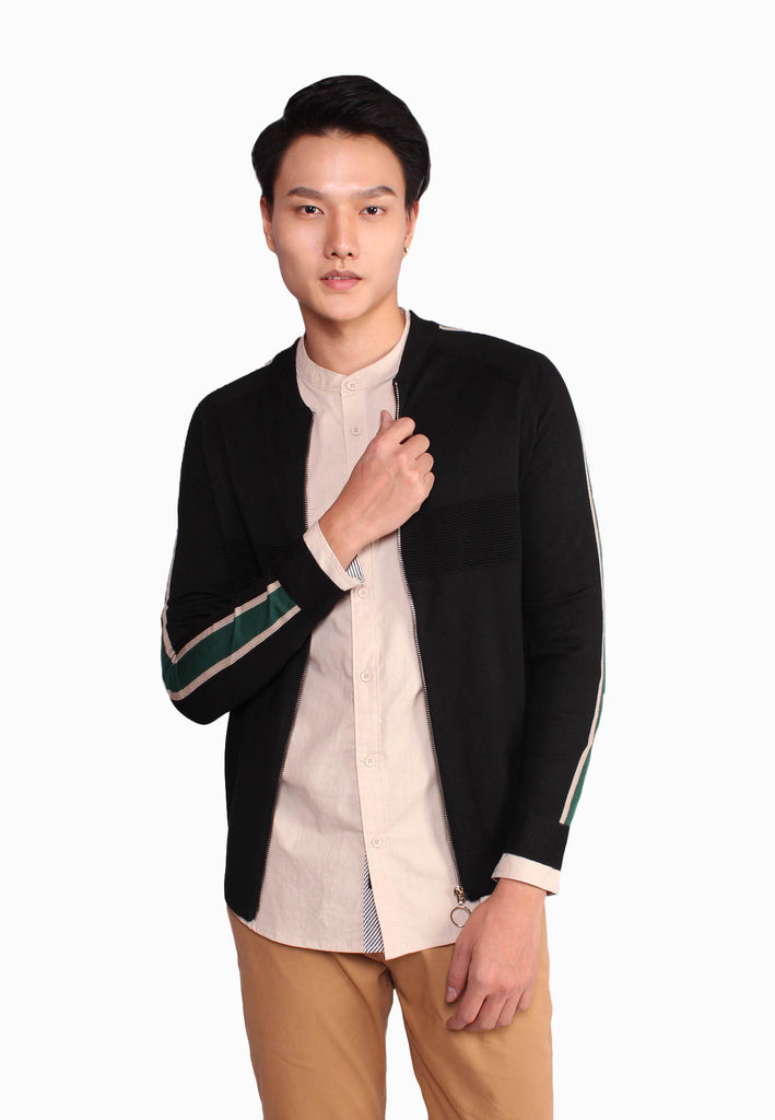 Side Tapping Zip Up Jacket