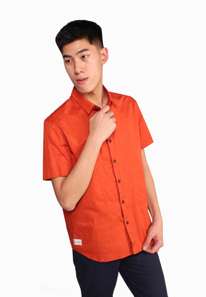 Plain Casual Short Sleeve Men Shirt