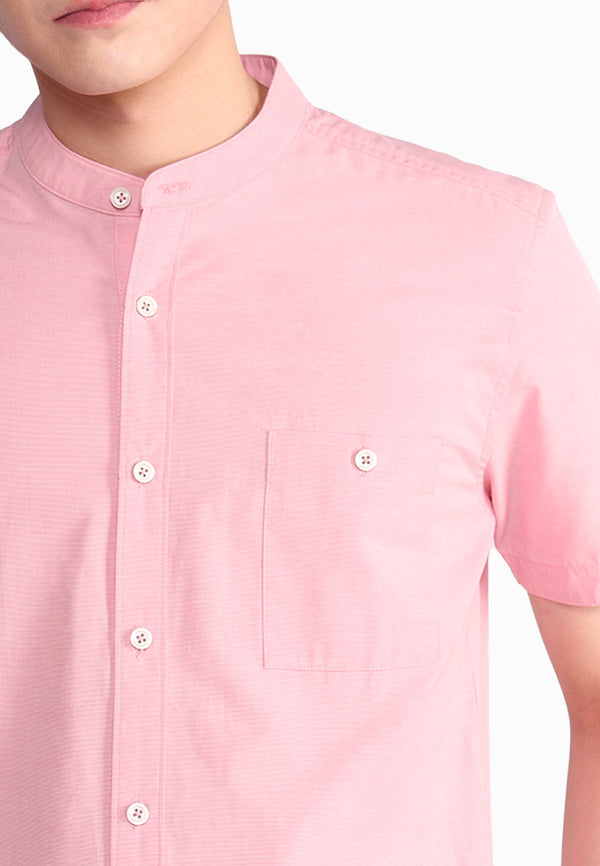 Stand Collar Short Sleeve Shirt