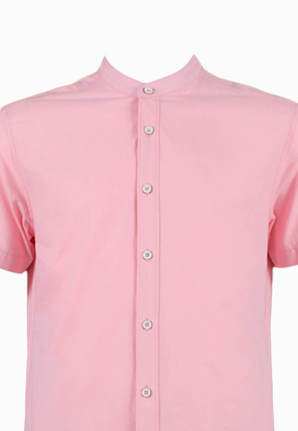 SODA Men Basic Buttons-Down Granded Collar Shirt