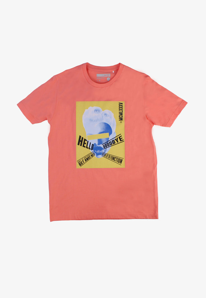 SODA Men ''Hello And Goodbye'' Print T-Shirt