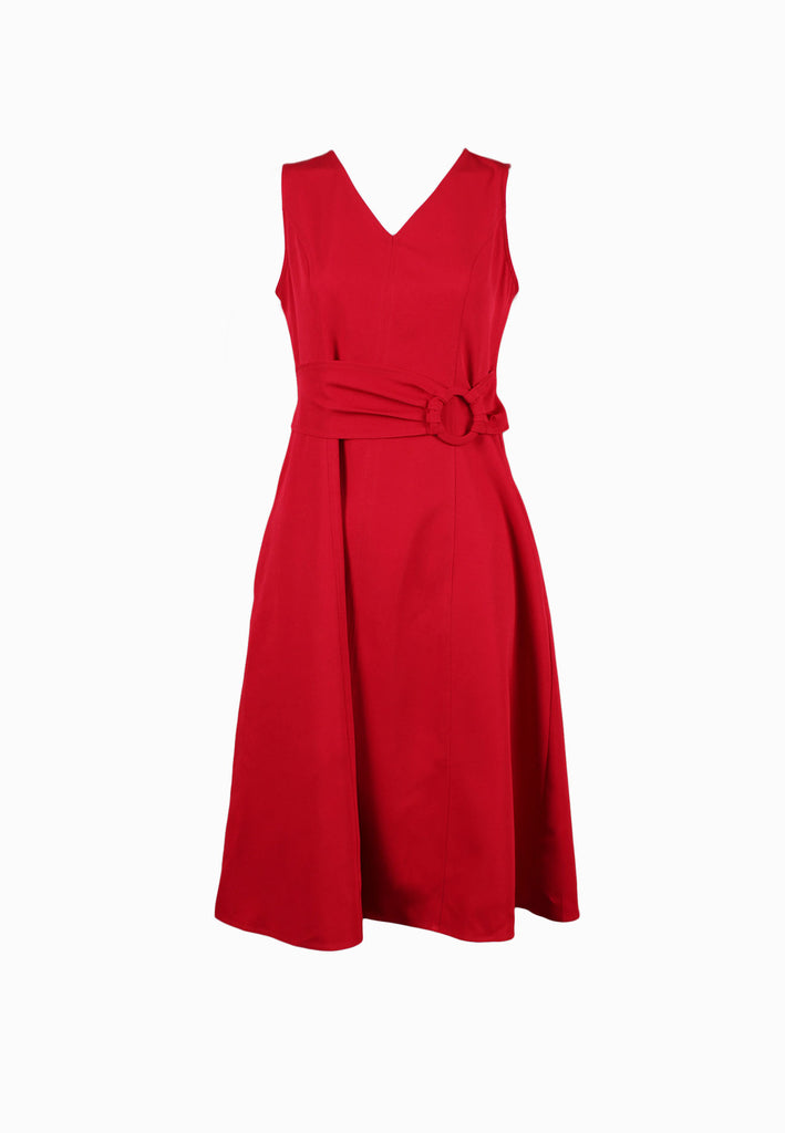 SODA Ladies V-Neck Sleeveless Dress