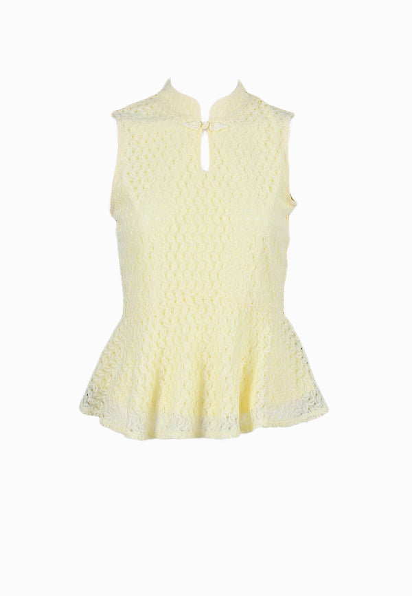 SODA Ladies Mandarin Collar Sleeveless Top