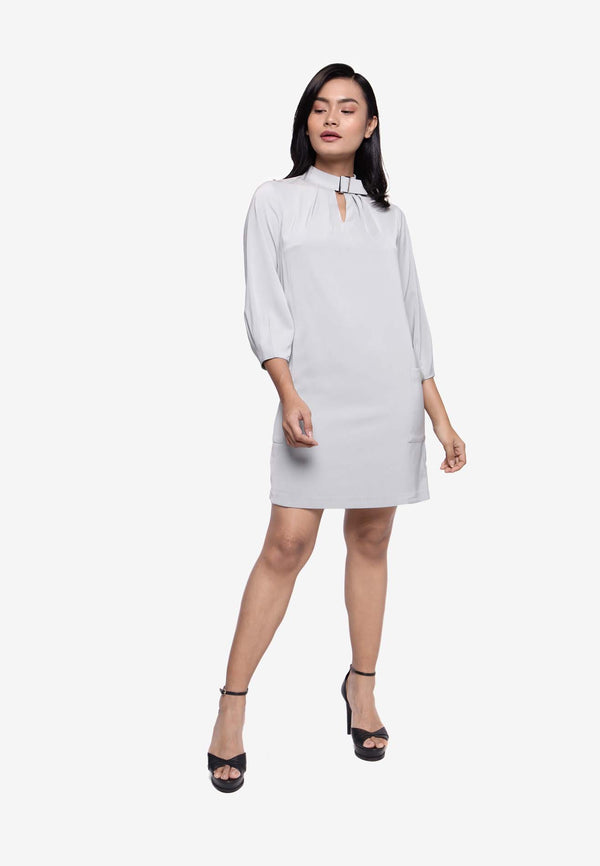 Flare Knit with Keyhole Neckline Dress