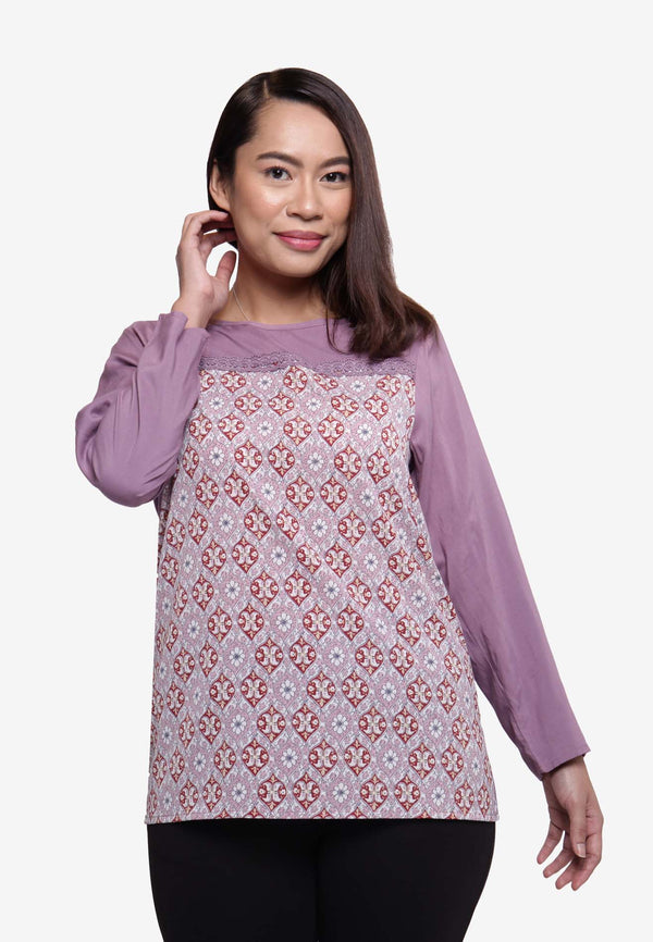 Batik Long Sleeve Top
