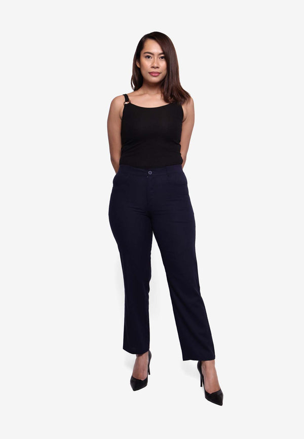 Lady Stretch Boot-Cut Pant - Navy