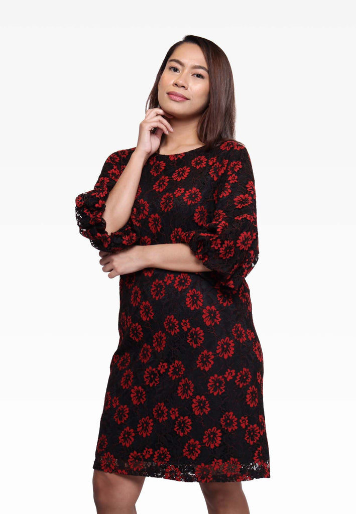 Choir Boy Sleeve Floral Dress