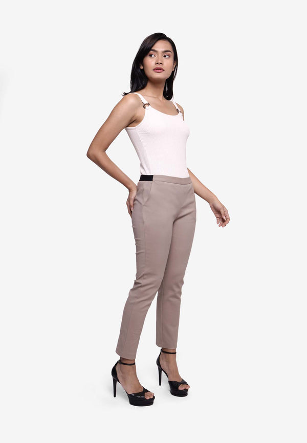 Skinny Slim Fit Long Pants - Khaki